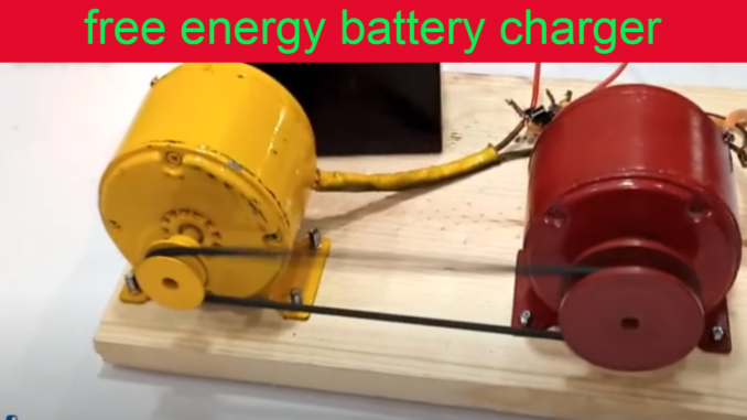 free energy battery charger